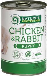 UAB AKVATERA Karma mokra dla szczeniąt NATURES PROTECTION Kurczak i królik 400g