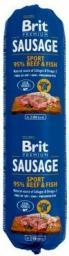 Brit  Premium Sausage Sport wołowina z rybą 800g
