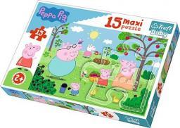 Trefl Puzzle Baby. Peppa w ogrodzie 15 el. maxi