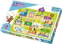 Trefl Puzzle Baby, 15 elementów Maxi - Pociąg z cyferkami (GXP-645245)