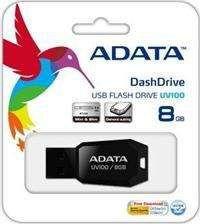 Pendrive ADATA UV100 8GB (AUV100-8G-RBK)