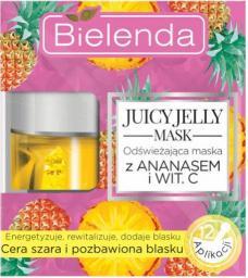 Bielenda Juicy Jelly Mask odświeżająca maska do cery szarej i pozbawionej blasku Ananas i Witamian C 50g