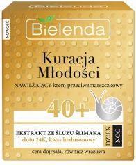 Bielenda Krem do twarzy przeciwzmarszczkowy z ekstraktem ze śluzu ślimaka 40+ na dzień/noc 50ml
