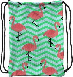 Mesio.pl Worek szkolny plecak WR133 Flamingi zygzak MESIO