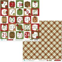 DP Craft Papier dwustronny 30,5 x 30,5 cm - Christmas Time 08, 5 szt. (PYDU-011-P08)