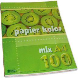 Kreska Papier ksero A4 80g mix kolorów 100 arkuszy
