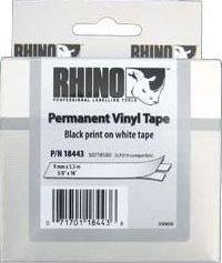 Dymo taśma RHINO 18443 (black on white)