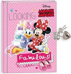 Beniamin Pamiętnik z kłódką Minnie Mouse