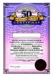 PAN DRAGON Certyfikat 50 urodziny dla kobiety