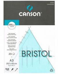 Blok biurowy Canson Bristol A3 250g 20 arkuszy, bardzo gładki (200457121)