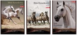 Blok biurowy Danmark Blok rysunkowy Horses A4 20ark