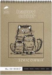 Blok biurowy Happy Color Szkicownik na spirali Młody Artysta A5 60 ark 80/90g
