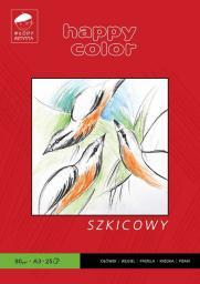 Blok biurowy Happy Color szkicowy Młody Artysta A3, 25 ark, 90g