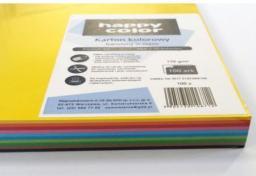 Blok biurowy Happy Color Karton kolorowy A4, 100 ark, miks 10 kolorów
