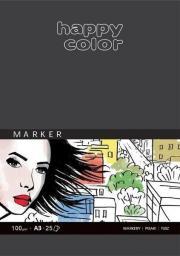 Blok biurowy Happy Color do markerów, Art., 100g, A3, 25ark