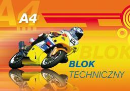 Blok biurowy KRESKA Blok techniczny A4 240g