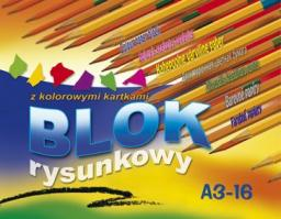 Blok biurowy KRESKA Blok rysunkowy kolor A3 16k.