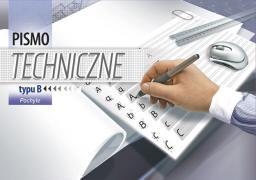 Blok biurowy KRESKA pismo techniczne typu B pochyłe A4