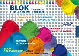Blok biurowy KRESKA Blok techniczny kolorowy Superior A5 25k.