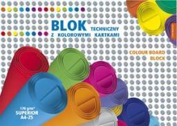 Blok biurowy KRESKA Blok techniczny kolorowy Superior A4 25k.