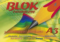 Blok biurowy KRESKA Blok techniczny kolorowy A3 10k.