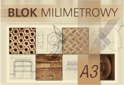 Blok biurowy KRESKA milimetrowy A3 20 kartek
