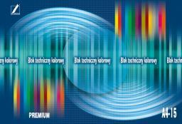 Blok biurowy KRESKA Blok techniczny kolorowy Premium A4 15k.