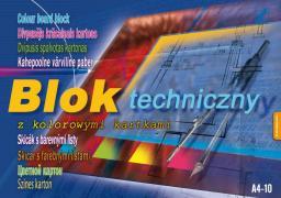 Blok biurowy KRESKA Blok techniczny kolor  A4 10k.