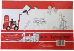 Blok biurowy Protos Blok techniczny Protos A4 biały 190g