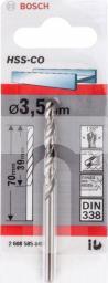 Wiertło do metalu Bosch kobaltowe walcowe 3,5mm 5szt. (2.608.585.845)