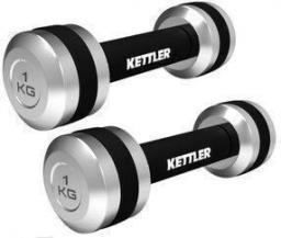 Kettler Hantle chromowane 2x1 kg czarno-srebrne (07446-150)