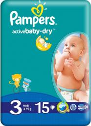Pampers Pieluchy Pampers Active Baby Midi 4-9 kg 15szt