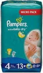 Pampers Pieluchy Pampers Active Baby-Dry 8-14 kg 13szt