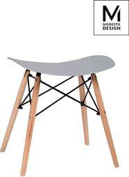 Modesto Design MODESTO stołek BORD szary - polipropylen, podstawa bukowa