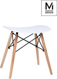 Modesto Design stołek BORD biały - polipropylen, podstawa bukowa