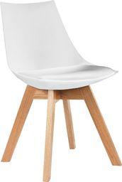 King Home Krzesło Slim białe