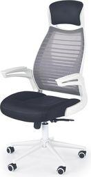 Halmar FRANKLIN fotel pracowniczy czarno-popielaty-biały