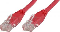 MicroConnect Patchcord U/UTP CAT6 0,25m Czerwony PCV (B-UTP60025R)