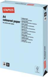 Papier Staples Papier kolorowy PASTEL COLOURS A4 160G, niebieski/blue, ryza 250 arkuszy (7216559)