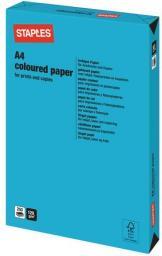 Papier Staples Papier kolorowy INTENSIVE COLOURS A4 120G, niebieski/deep blue, ryza 250 arkuszy (7219454)