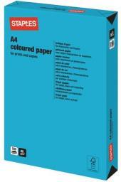 Papier Staples Papier kolorowy INTENSIVE COLOURS A4 80G, niebieski/deep blue, ryza 500 arkuszy (7300236)