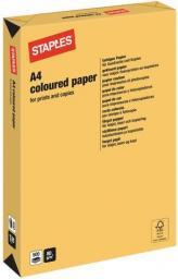 Papier Staples Papier kolorowy TREND COLOURS A4 80G, złoty/gold, ryza 500 arkuszy (7302264)
