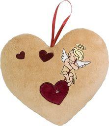 Beppe Poduszka serce z haftem amorka - 3 serca (11315)