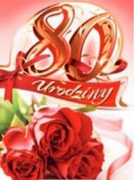 Artnuvo Karnet 80 Urodziny B6 cyfry dla dorosłych
