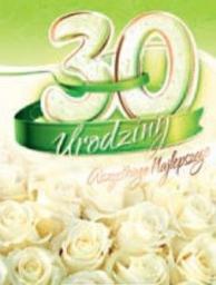 Artnuvo Karnet 30 Urodziny B6 cyfry dla dorosłych
