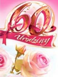 Artnuvo Karnet 60 Urodziny B6 cyfry dla dorosłych