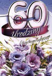 Artnuvo Karnet B6 60 urodziny