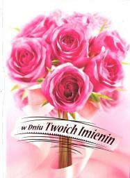 Artnuvo Karnet B6 Kwiaty imieniny  FF1283