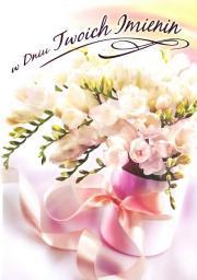 Artnuvo Karnet B6 Kwiaty imieniny  FF1281