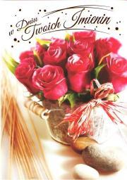 Artnuvo Karnet B6 Kwiaty imieniny  FF1285